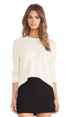 BCBGeneration Link Stitch Sweater in Nude