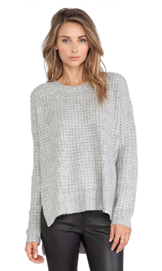 BCBGeneration Waffle Stitch Sweater in Heather Grey