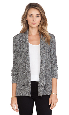 BCBGeneration Shawl Collard Cardigan in Marled Charcoal