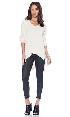 BCBGeneration Pullover Sweater in Whisper White Combo