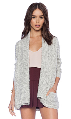 BCBGeneration Boucle Kimono Cardigan in Whisper White Combo