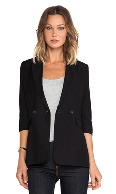 BCBGeneration 3/4 Sleeve Blazer in Black