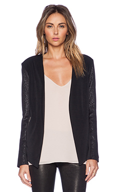 BCBGeneration Drape Front Jacket in Black