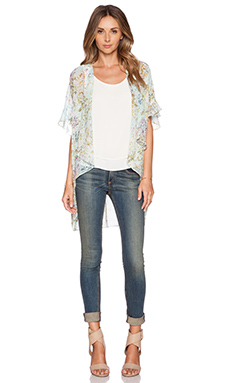 BCBGeneration Floral Kimono in Whisper White Multi