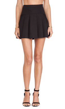 BCBGeneration Flared Pleated Skirt in Black