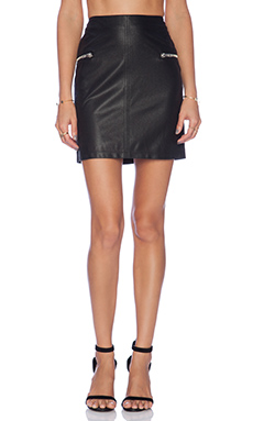 BCBGeneration Zip Detail Mini Skirt in Black
