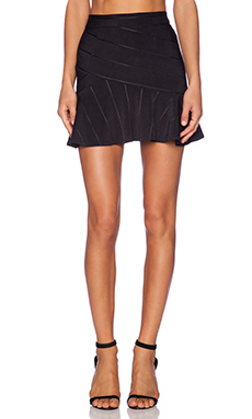 BCBGeneration Ruffle Hem Skirt in Black