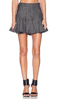 BCBGeneration Flared Mini Skirt in Black & Silver