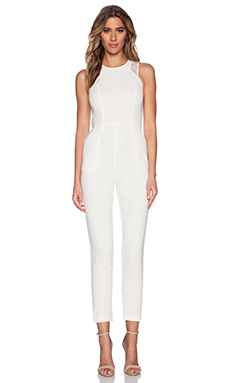 BCBGeneration Sleeveless Jumpsuit in Whisper White