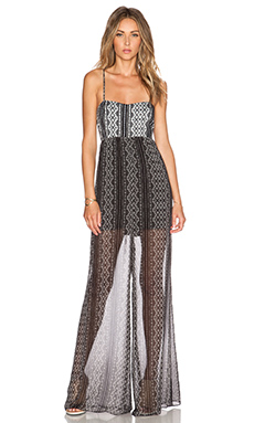 BCBGeneration Maxi Jumpsuit in Black Combo