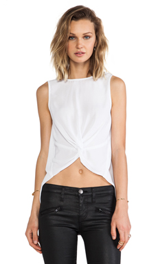 BCBGeneration Knot Front Tank in White