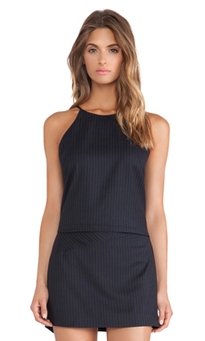 BCBGeneration High Neck Slip Tank in Dark Navy