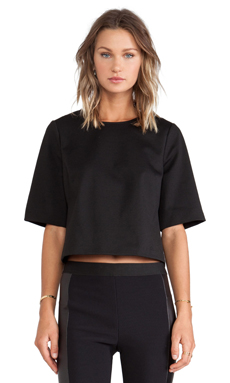 BCBGeneration Zip Back Boxy Top