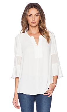 BCBGeneration Blouson Sleeve Top in Whisper White