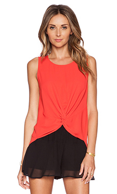 BCBGeneration Front Knot Tank in Lava