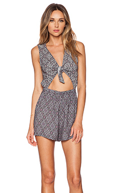 BCBGeneration Cut It Out Romper in Pink Multi