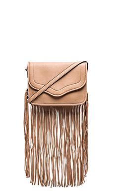BCBGeneration The Lana Suede Shoulder Bag in Blush