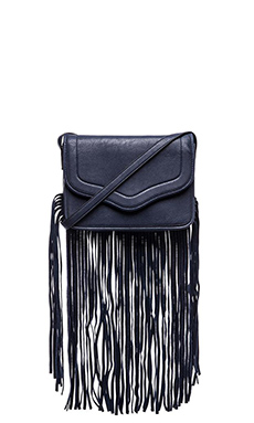 BCBGeneration The Lana Suede Shoulder Bag in Eclipse Blue