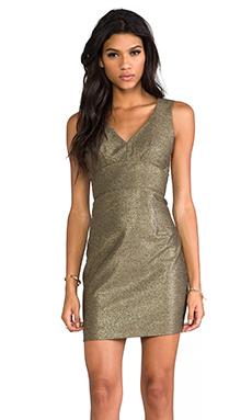 Black Halo Vera Mini Dress in Burnished Gold