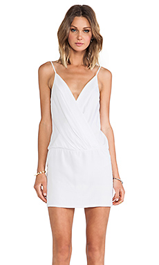 Black Halo Bella Mini Dress in White
