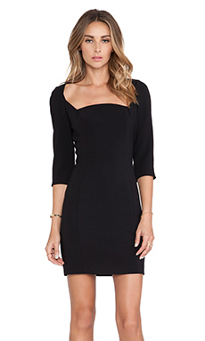 Black Halo Emeline Sheath Mini Dress in Black