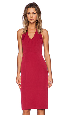 Black Halo Nichole Sheath Dress in Rebel Red