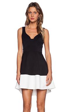 Black Halo Reese Dress in Black & Coconut