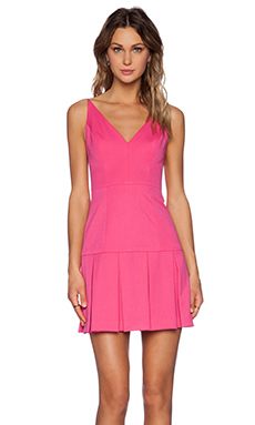 Black Halo Alayna Mini Dress in Pink Silk
