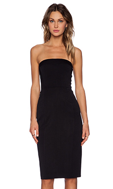 Black Halo Olsen Strapless Dress in Black