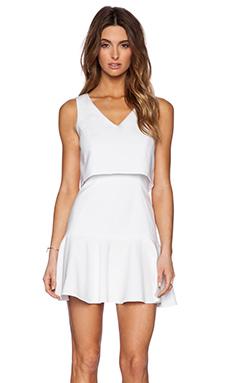 Black Halo Shawna Mini Dress in White