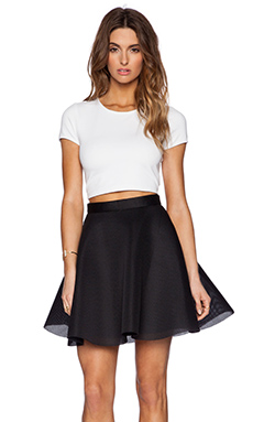 Black Halo Thaimi Two Piece Dress in White & Black