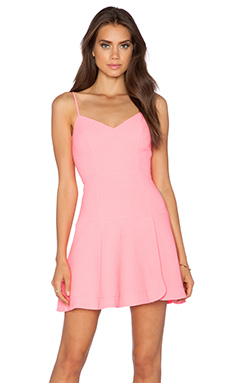 Black Halo Kierrah Mini Dress in Pink Freeze