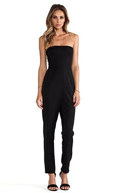 Black Halo Iris Strapless Jumpsuit in Black