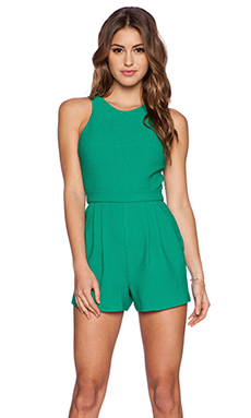 Black Halo Caely Playsuit in Green Cove