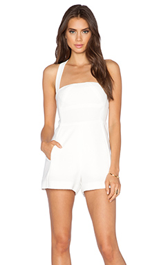 Black Halo Bryson Romper in Cloud