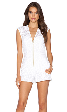 Black Halo Abriella Romper in Cloud