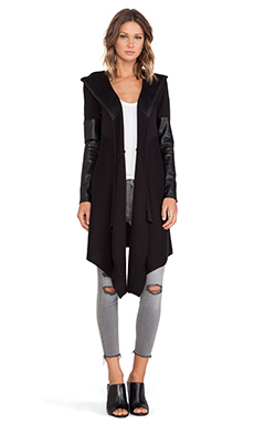 BLANKNYC Hooded Cardigan in Vegan Diet
