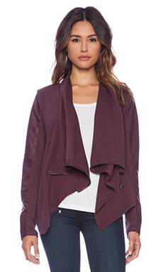 BLANKNYC Drape Jacket in Oxblood