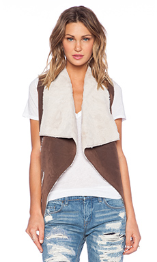 BLANKNYC Vest in Faux Fur
