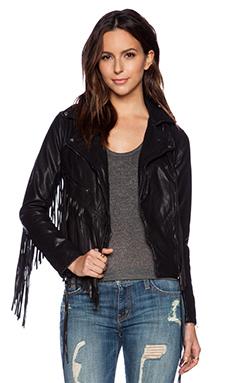 BLANKNYC Fringe Moto Jacket in Let it Ride
