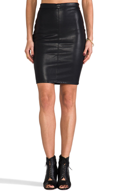 BLANKNYC Leather Pencil Skirt in Pussy Cat