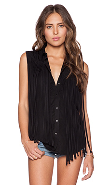 BLANKNYC Fringe Button Up in Fringe Benefits