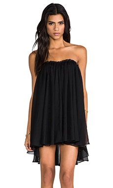 BLAQUE LABEL Strapless Mini Dress in Black