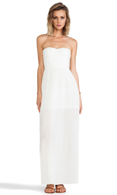 BLAQUE LABEL Sweetheart Maxi Dress in Ivory