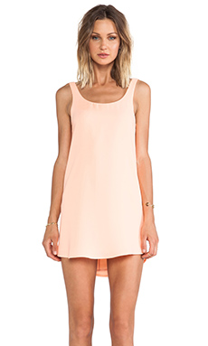 BLAQUE LABEL Tank Mini Dress in Salmon