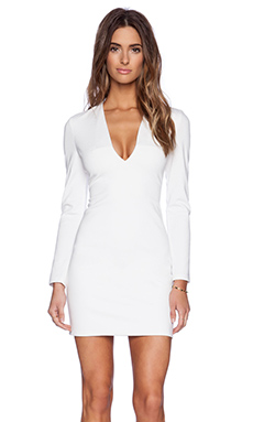 BLAQUE LABEL Long Sleeve Mini Dress in Ivory