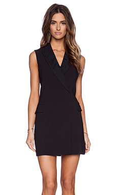 BLAQUE LABEL Tuxedo Dress in Black