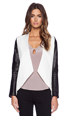 BLAQUE LABEL Jacket in White & Black