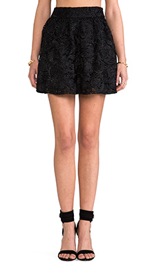 BLAQUE LABEL Lace Circle Skirt in Black