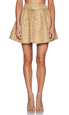 BLAQUE LABEL Mini Skirt in Gold